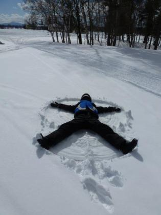 Snow Angel in the making